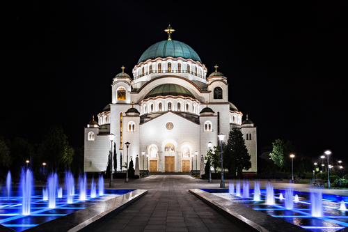 The Cathedral of Saint Sava - is the largest Orthodox church in the world